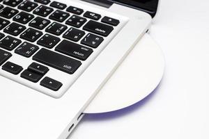 computadora portátil y dvd