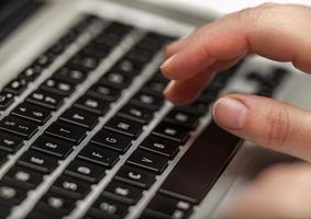 teclado de la computadora de cerca