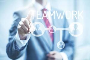 Business concept teamwork photo