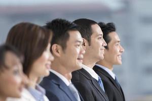 equipo de negocios feliz foto