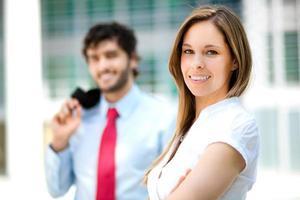 Business partners portrait