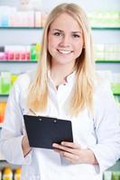 Attractive pharmacist photo