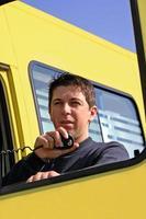 hablando en la radio foto