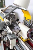 Lathe machine in a workshop photo