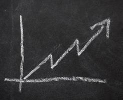 gráfico de negocios finanzas pizarra