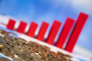 Finance concept, Percent, natural colorful tone photo