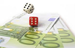 Euros and dice photo
