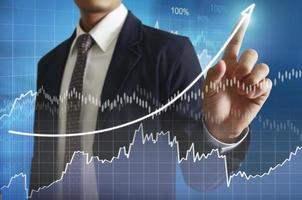 financial symbols coming from han
