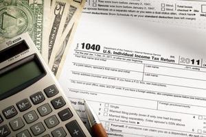 Income tax form photo