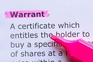 warrant photo