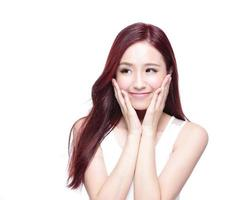 Beauty woman with charming smile photo
