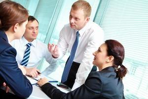 Working meeting photo