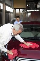 en el lavado de autos