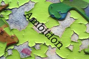 concepto de rompecabezas de ambición foto