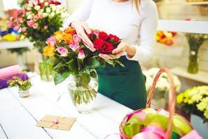 hermoso ramo de rosas foto