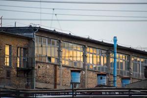 antiguo edificio industrial foto