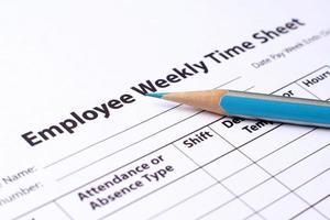 feuille de temps des employés