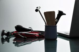 Arzt, Praxis Schreibtisch