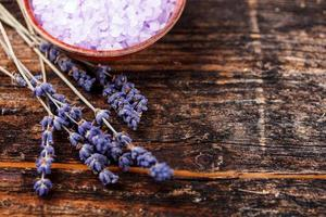 Lavender bath salt photo