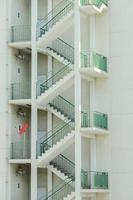 escalera de incendios externa foto