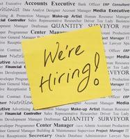 We are hiring photo