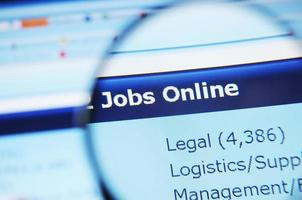 Jobs on-line photo