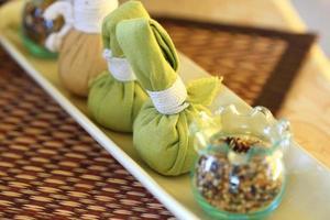 Thai spa massage set photo