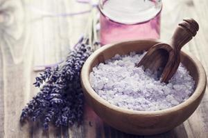 Lavender salt photo