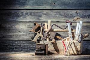 Vintage antiguo lugar de trabajo de carpinteros