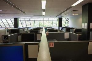 Empty office with separate units photo