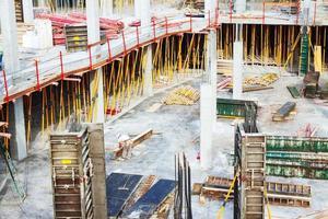 vista del sitio de trabajo de construcción foto