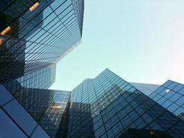 edificios del distrito de negocios
