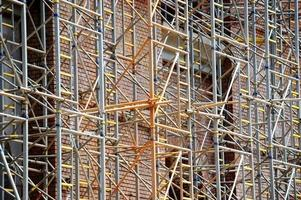 Scaffolding on construction site photo
