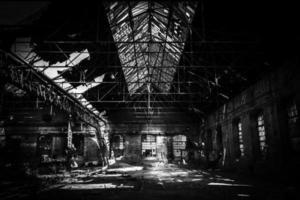 grote industriële hal van een reparatie station