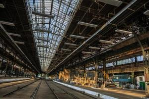 Large industrial hall of a repair station photo