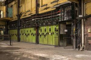 Electricity distribution hall in metal industry photo