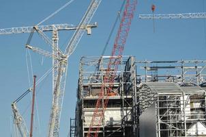 sitio de construcción ocupado foto
