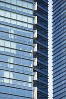 Primer plano de un moderno edificio de rascacielos. foto