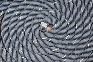 Thick rope wrapped in a spiral photo