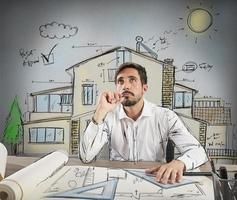 Pensive architect photo