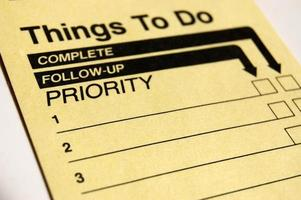 A to-do list and a follow up list