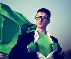 Superhero Businessman Professional Success White Collar Worker C photo