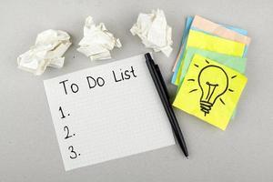 lista di cose da fare