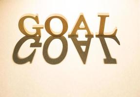 Goal concept and shadow photo