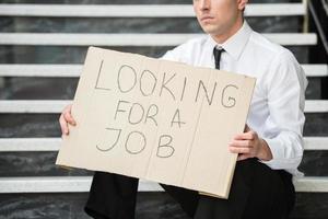 Unemployed man photo