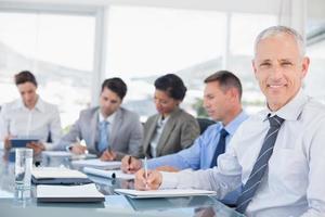 equipe de negócios durante a reunião