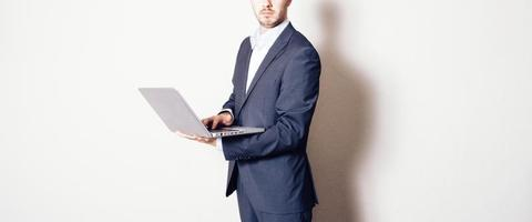 business man with notebook
