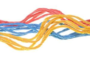 Colored computer cables photo