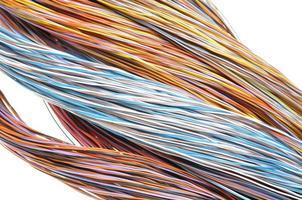 Multicolored computer network cable photo