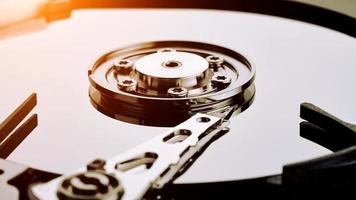 Unidad de disco duro de la computadora (HDD) foto
